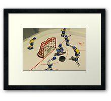 ice hockey table game Framed Print