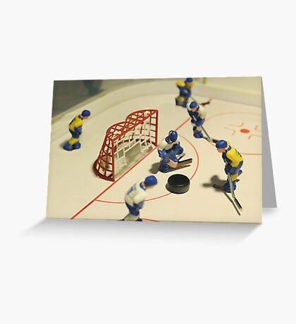 ice hockey table game Greeting Card
