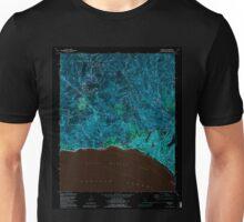 USGS TOPO Map California CA Topanga 295492 1991 24000 geo Inverted Unisex T-Shirt