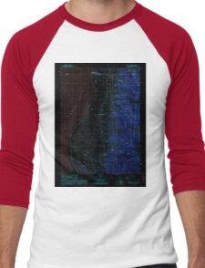 USGS TOPO Map California CA Willow Ranch 295809 1990 24000 geo Inverted Men's Baseball ¾ T-Shirt