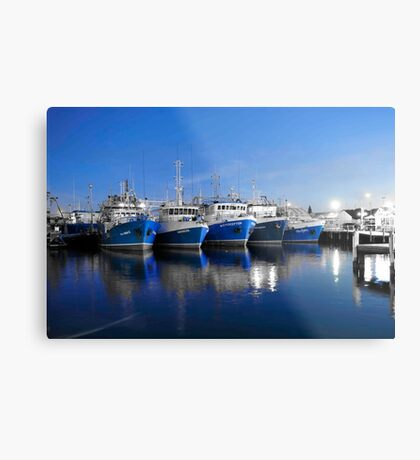 The Five Blue Girls Metal Print