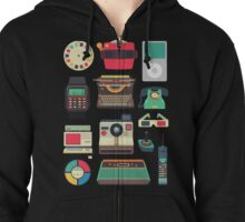 Retro Technology 2.0 Zipped Hoodie