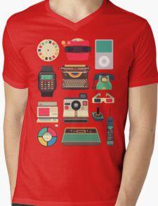 Retro Technology 2.0 Mens V-Neck T-Shirt