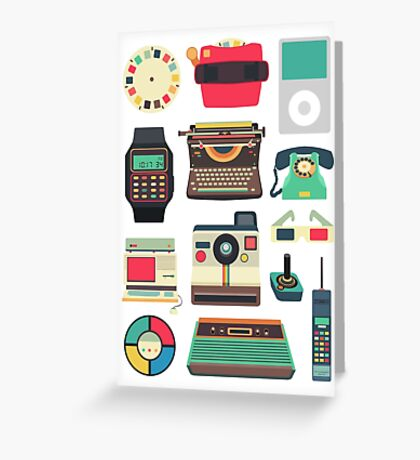 Retro Technology 2.0 Greeting Card