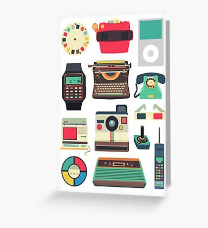 Retro Technology 2.0 Greeting Card