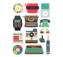 Retro Technology 2.0 Photographic Print