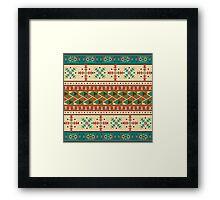 Navajo pattern Framed Print