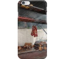 Cooking meat iPhone Case/Skin