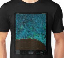 USGS TOPO Map California CA Topanga 295493 1991 24000 geo Inverted Unisex T-Shirt