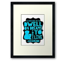 Albus Dumbledore Quote Typography Framed Print