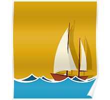 Sailing boat background Poster