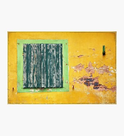yellow wall Photographic Print