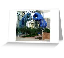 That Big Blue Bear Again Greeting Card