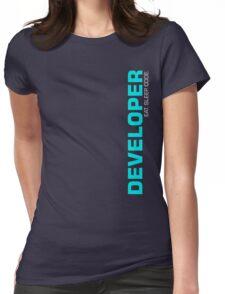 Eat Sleep Code Repeat Developer Programmer Womens Fitted T-Shirt