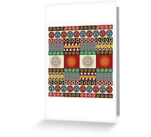 Seamless mayan, aztec pattern Greeting Card