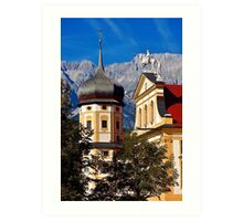 The abbey of Stams in Tyrol Austria Art Print
