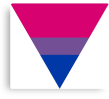 Bisexual triangle flag Canvas Print