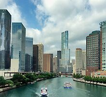 Chicago river by Maryna Gumenyuk