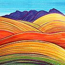 Perfect Pastels - Wilpena With Hills by Georgie Sharp