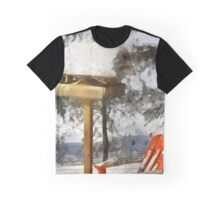 Birdfeeder in Winter Graphic T-Shirt