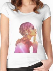 Independent yellow magenta woman Women's Fitted Scoop T-Shirt