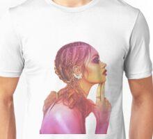 Independent yellow magenta woman Unisex T-Shirt