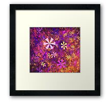 Pink Flower Garden Framed Print