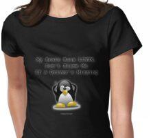 My Brain Runs LINUX Womens Fitted T-Shirt
