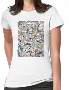 Kamasutra LOVE Doodle Womens Fitted T-Shirt