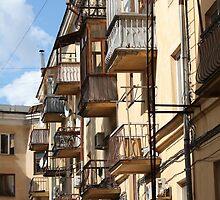 Balconies like birdhouses by mrivserg