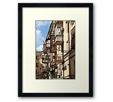Balconies like birdhouses Framed Print