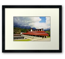 Famous ski-college in Stams Framed Print
