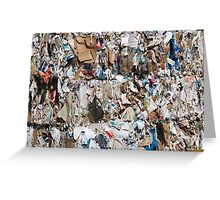 paper recycling Greeting Card