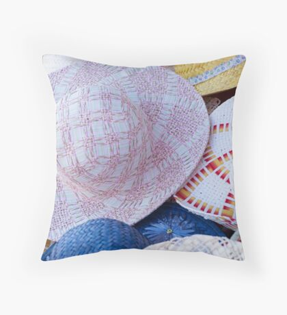 woman's hat Throw Pillow