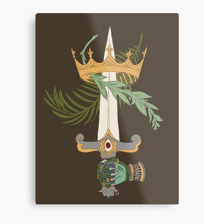 Ace of Swords Metal Print