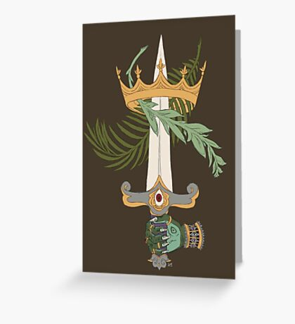 Ace of Swords Greeting Card