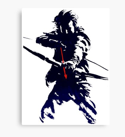 blue arrow Canvas Print