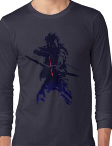 blue arrow Long Sleeve T-Shirt