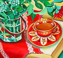 Red Teatime by marlene veronique holdsworth