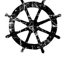 Steering Wheel Vintage Sailing Design by theshirtshops