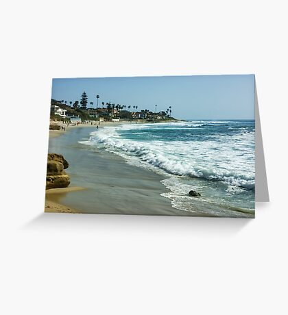 Wipeout Beach in La Jolla California Greeting Card