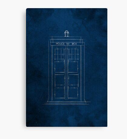 Doctor Who, Tardis (Colour) Canvas Print
