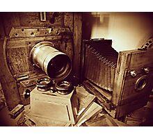 Vintage wooden cameras Photographic Print
