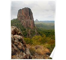 Crater Bluff with rocks Poster