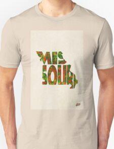Missouri Typographic Watercolor Map Unisex T-Shirt