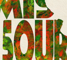 Missouri Typographic Watercolor Map Sticker