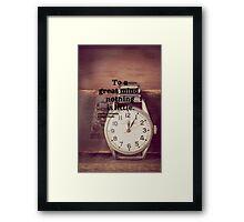 Sherlock Great mind Framed Print