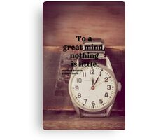 Sherlock Great mind Canvas Print