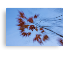 Abstract Impressions of Fall - Autumn Wind Melody Canvas Print