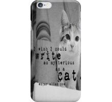 Edgar Allan Poe Cat iPhone Case/Skin
